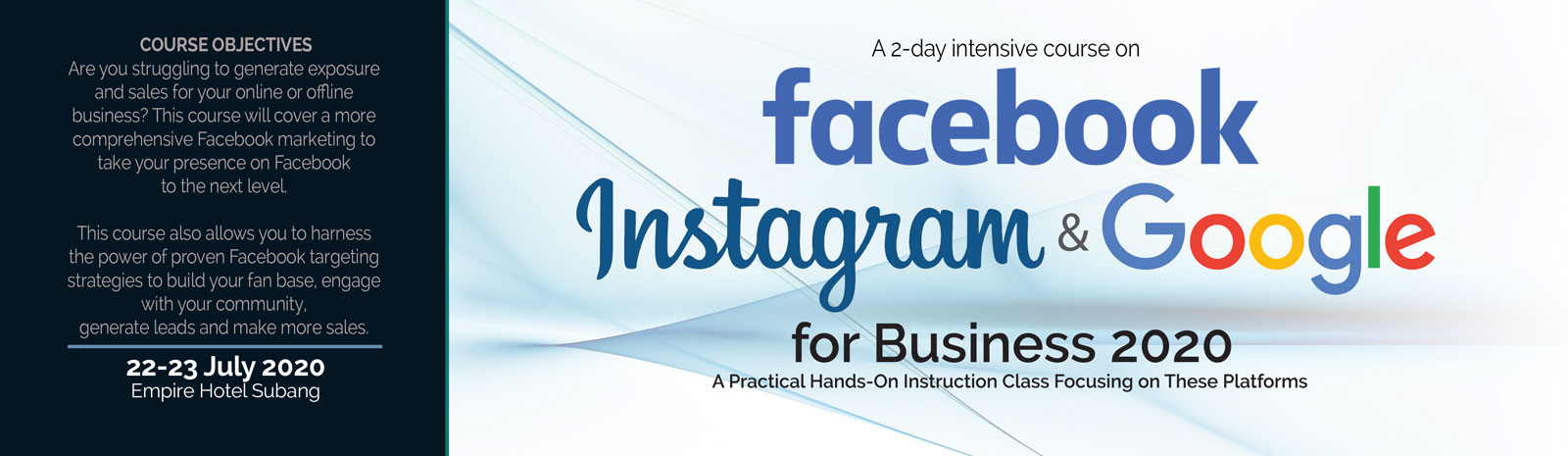 Facebook, Instagram and Google for Business 2020